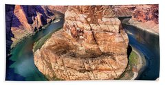 Hand Towel featuring the photograph Horseshoe Bend In Arizona by Mitchell R Grosky