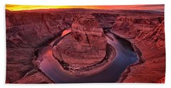 Horseshoe Bend Sunset Hand Towel