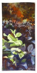 Hostas In The Forest Bath Towel