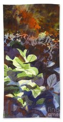 Hostas In The Forest Hand Towel by Kip DeVore