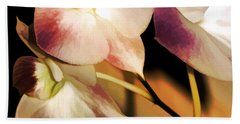 Hand Towel featuring the photograph Hot Orchid Nights by Holly Kempe