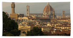 Hot Summer Afternoon In Florence Italy Hand Towel
