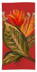 Hand Towel featuring the digital art Hot Tulip L by Christine Fournier