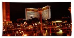 Hotel Lit Up At Night, The Mirage, The Hand Towel