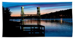 Houghton Bridge Sunset Bath Towel