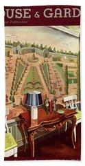 House & Garden Cover Illustration Of 18th Century Bath Towel