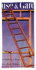 House & Garden Cover Illustration Of A Ladder Bath Towel