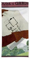 House & Garden Cover Illustration Of A Pair Bath Towel