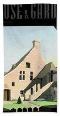 House & Garden Cover Illustration Of An Historic Bath Towel