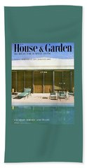 House & Garden Cover Of A Swimming Pool At Miami Bath Towel