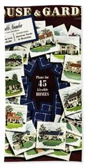 House And Garden Cover Featuring A Collage Hand Towel