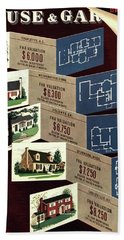 House And Garden Cover Featuring Houses Hand Towel