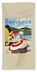 House And Garden Featuring Umbrellas On A Beach Bath Towel