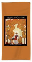 House And Garden House Planning Number Cover Bath Towel