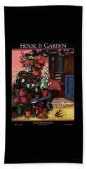 House And Garden Spring Gardening Guide Cover Bath Towel