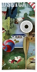 House And Garden Summer Camps And Cottages Cover Bath Towel