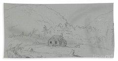 House In Mount Desert Hand Towel
