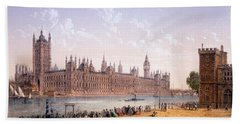 Houses Of Parliament From The South Hand Towel