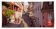 Houses On Both Sides Of An Alley, Lake Hand Towel