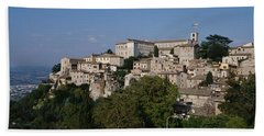 Houses On The Top Of A Hill, Todi Bath Towel