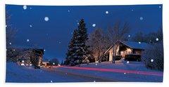 Houses Snowfall Nh Usa Hand Towel