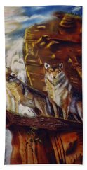 Howling For The Nightlife  Bath Towel