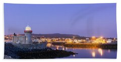 Howth Harbour Lighthouse Bath Towel by Semmick Photo