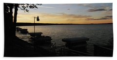 Hubbard Lake Sunset Hand Towel