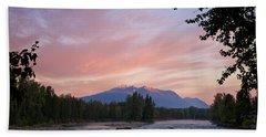 Hudson Bay Mountain British Columbia Bath Towel by Mary Lee Dereske