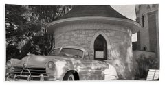 Hand Towel featuring the photograph Hudson Commodore Convertible by Verana Stark