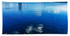 Hudson River Fall Landscape Bath Towel