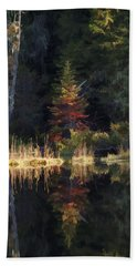 Huff Lake Reflection Hand Towel