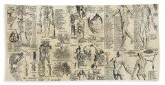 Human Anatomy 1728 Hand Towel