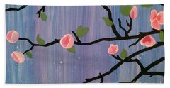 Hand Towel featuring the painting Humble Splash by Marisela Mungia