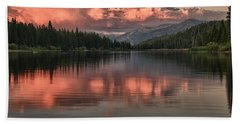 Hume Lake Sunset Hand Towel
