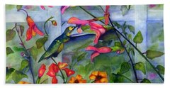 Hummingbird Dance Bath Towel