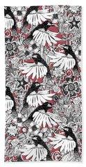 Hummingbird Heaven Rouge Hand Towel