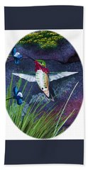 Hummingbird Two Bath Towel