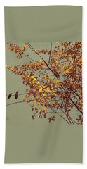Hummingbirds On Yellow Tree Bath Towel