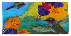 Hummingbirds Prayer Warriors Bath Towel