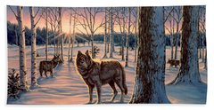Hunters At Twilight Hand Towel