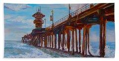 Huntington Beach Pier 2 Hand Towel