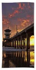 Huntington Beach Pier Hand Towel