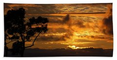 Huntington Beach Sunset Bath Towel by Matt Harang