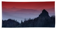 Hurricane Ridge Sunset Vista Bath Towel