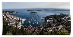 Hvar Harbor From The Fortress Hand Towel