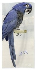 Hyacinth Macaw Hand Towel by Henry Stacey Marks