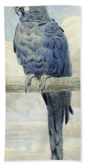 Hyacinthine Macaw Hand Towel by Henry Stacey Marks