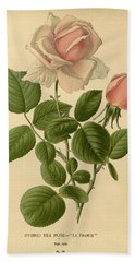 Hybrid Tea Rose La France Bath Towel