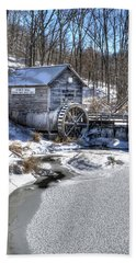 Hyde's  Mill In The Winter Hand Towel